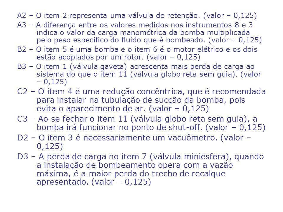 D2 – O item 3 é necessariamente um vacuômetro. (valor – 0,125)