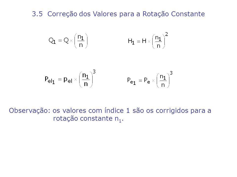 3.5 Correção dos Valores para a Rotação Constante