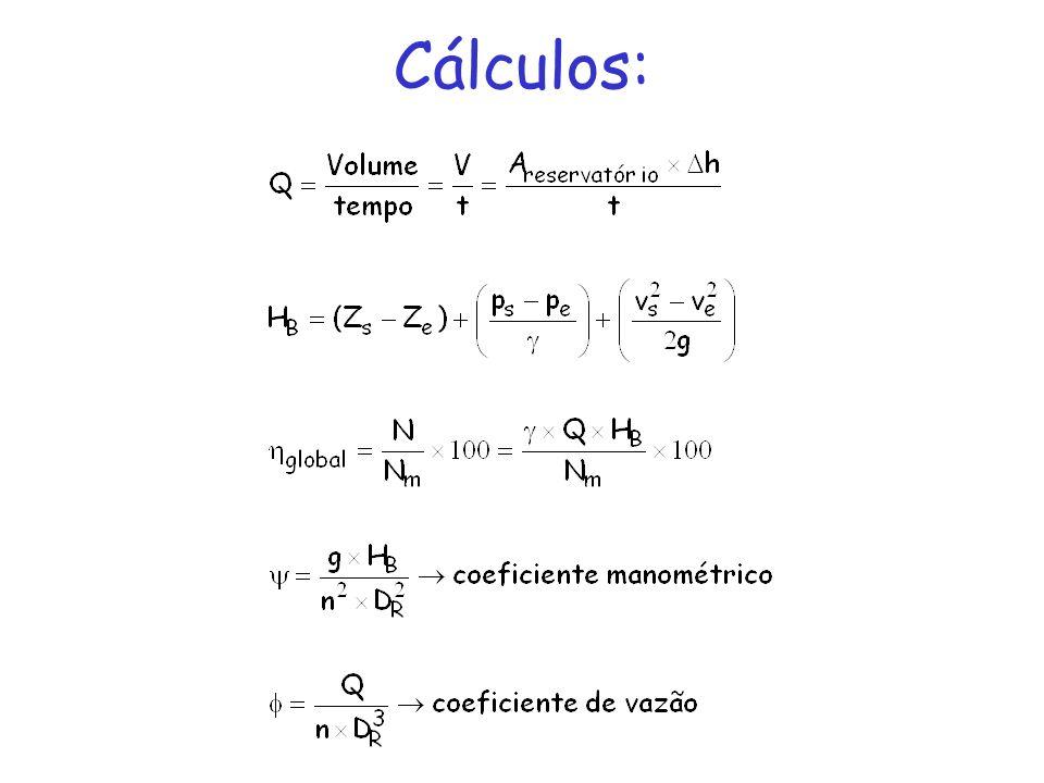 Cálculos: