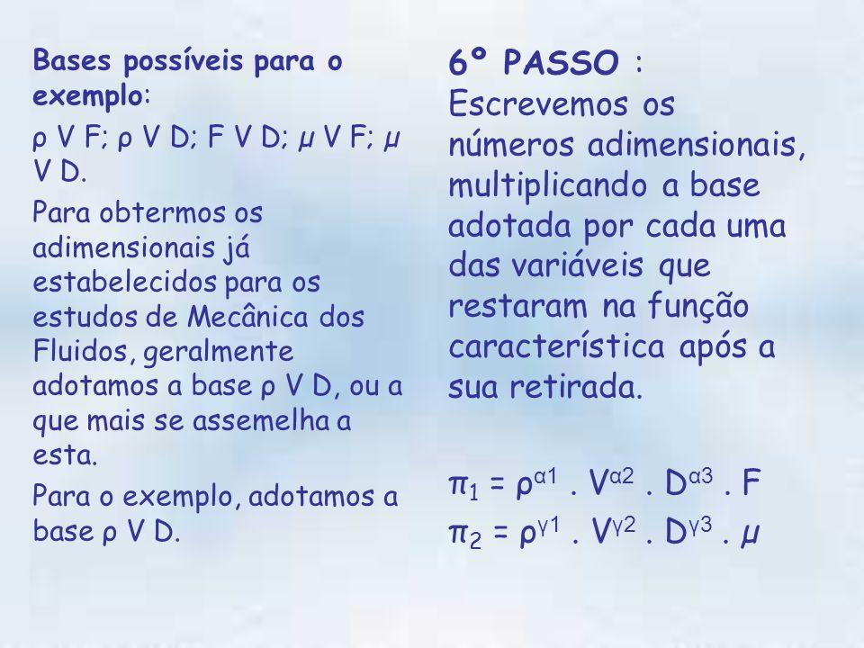 Bases possíveis para o exemplo: