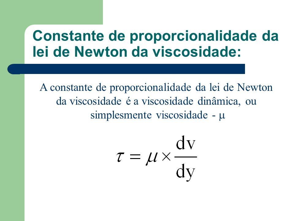 Constante de proporcionalidade da lei de Newton da viscosidade:
