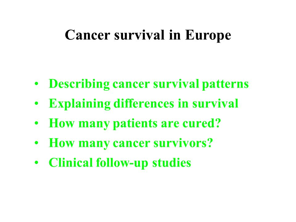 Cancer survival in Europe