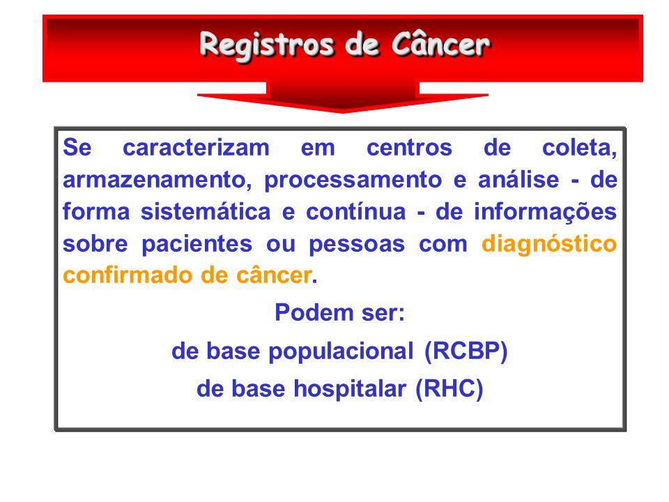 de base populacional (RCBP) de base hospitalar (RHC)