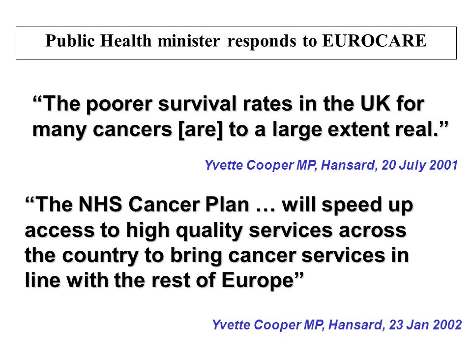 Public Health minister responds to EUROCARE