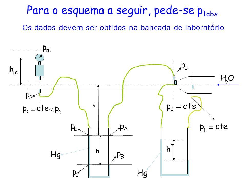 Para o esquema a seguir, pede-se p1abs