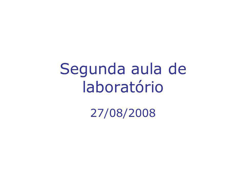 Segunda aula de laboratório