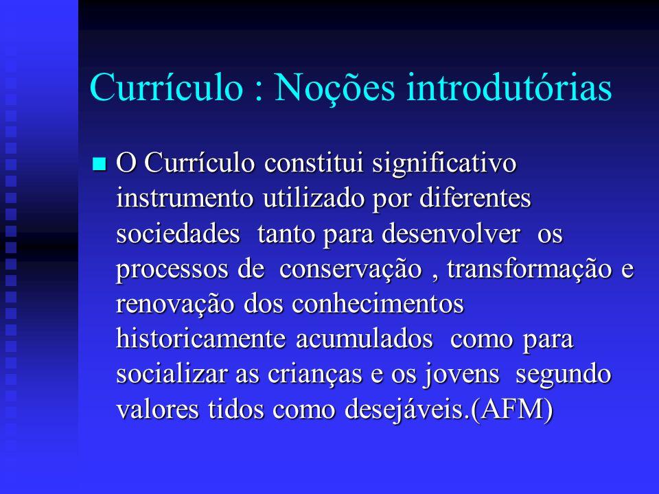 Currículo : Noções introdutórias