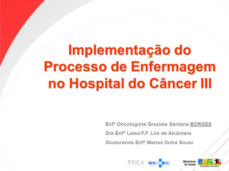 Implementação do Processo de Enfermagem no Hospital do Câncer III