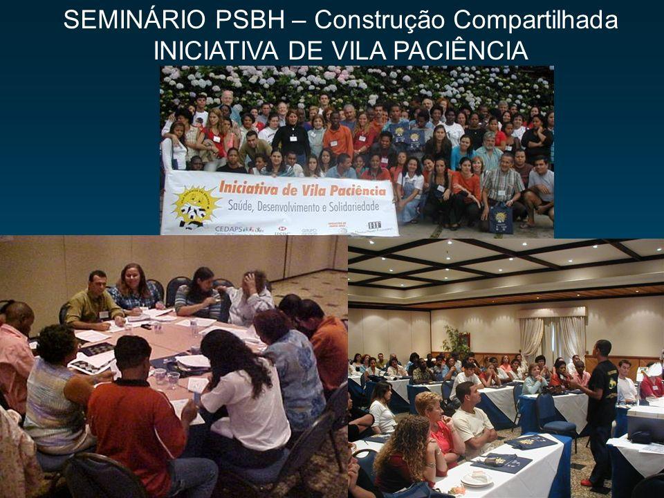 SEMINÁRIO PSBH – Construção Compartilhada INICIATIVA DE VILA PACIÊNCIA