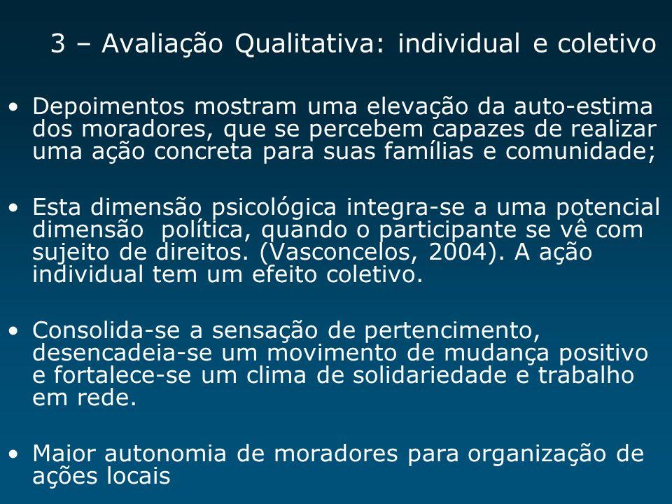 3 – Avaliação Qualitativa: individual e coletivo