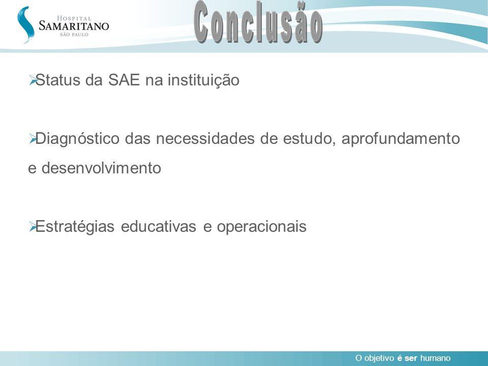 Conclusão Status da SAE na instituição