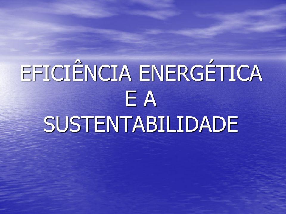 EFICIÊNCIA ENERGÉTICA E A SUSTENTABILIDADE