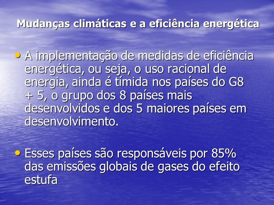 Mudanças climáticas e a eficiência energética