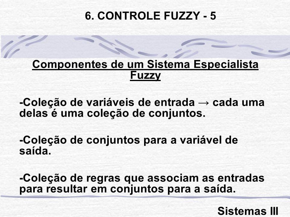 Componentes de um Sistema Especialista Fuzzy