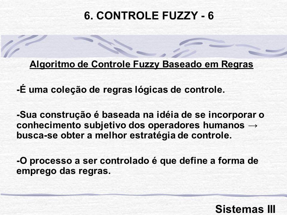 Algoritmo de Controle Fuzzy Baseado em Regras