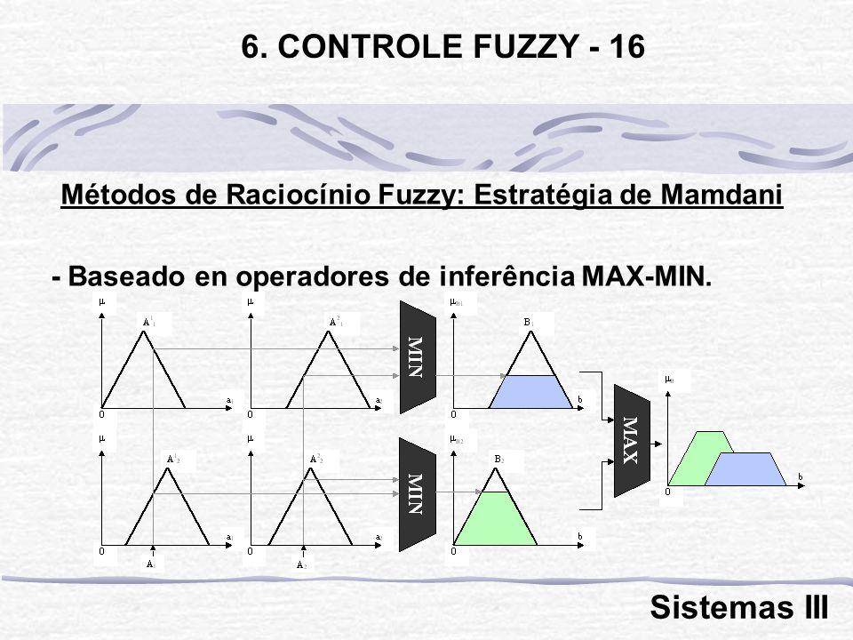 Métodos de Raciocínio Fuzzy: Estratégia de Mamdani