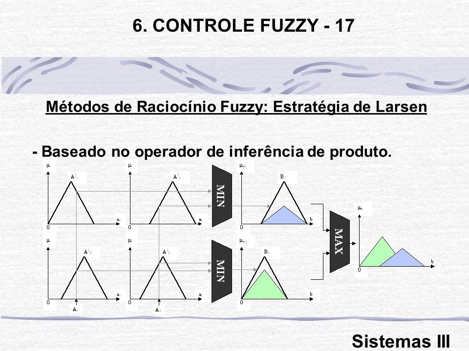 Métodos de Raciocínio Fuzzy: Estratégia de Larsen
