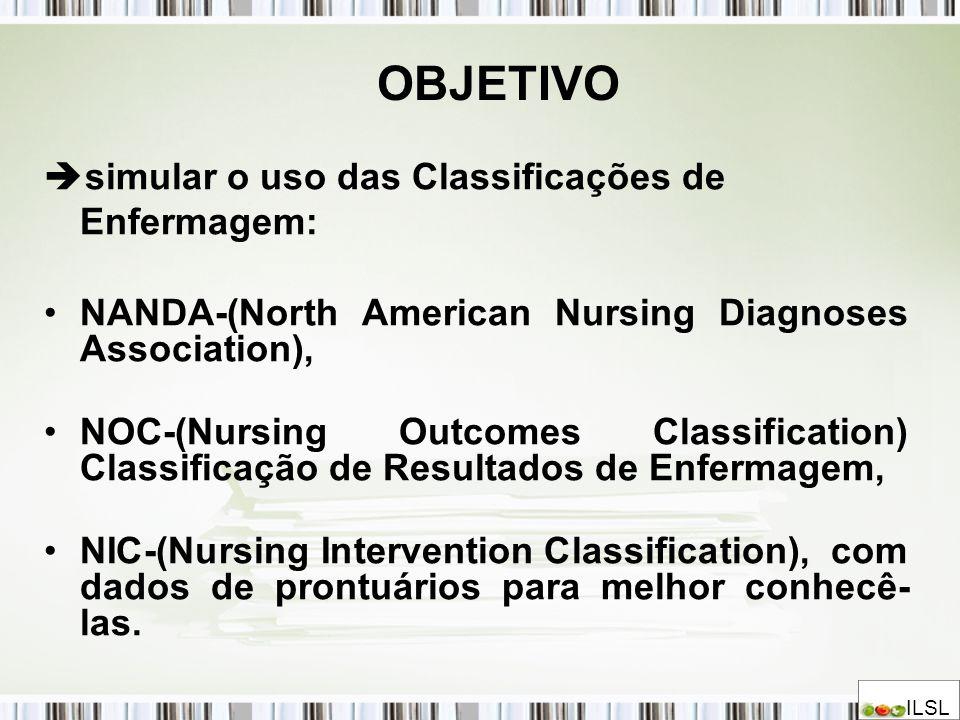 OBJETIVO simular o uso das Classificações de Enfermagem: