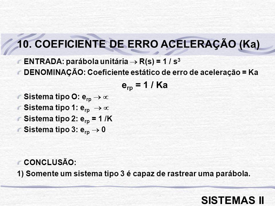 10. COEFICIENTE DE ERRO ACELERAÇÃO (Ka)