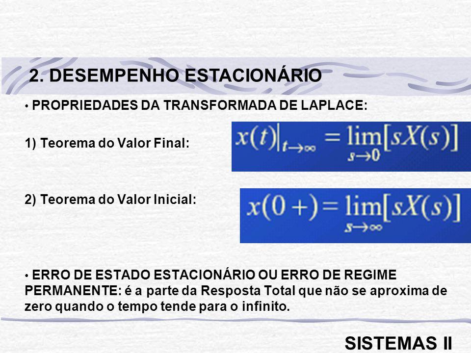 2. DESEMPENHO ESTACIONÁRIO