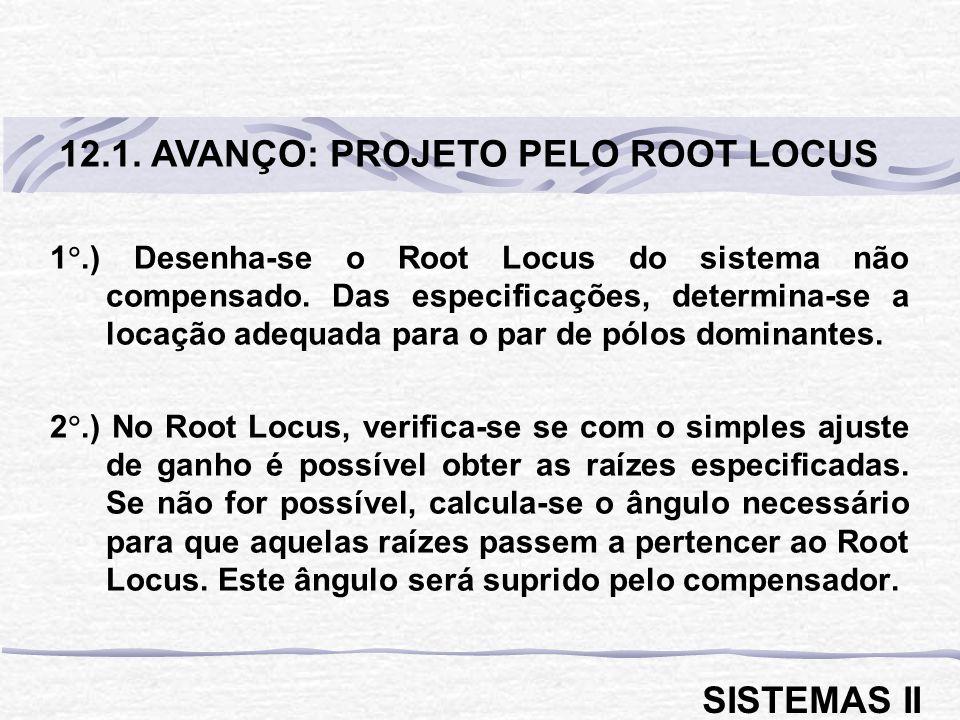 12.1. AVANÇO: PROJETO PELO ROOT LOCUS
