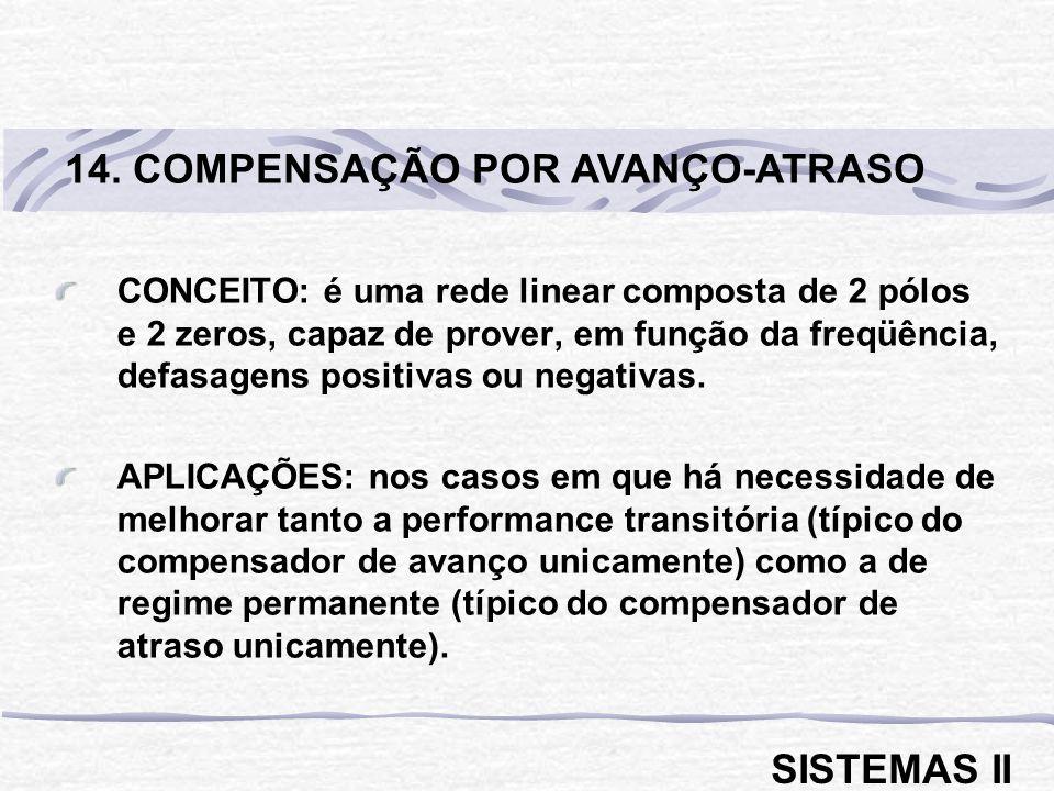 14. COMPENSAÇÃO POR AVANÇO-ATRASO