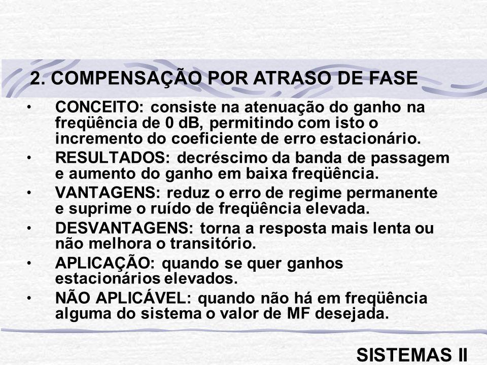 2. COMPENSAÇÃO POR ATRASO DE FASE