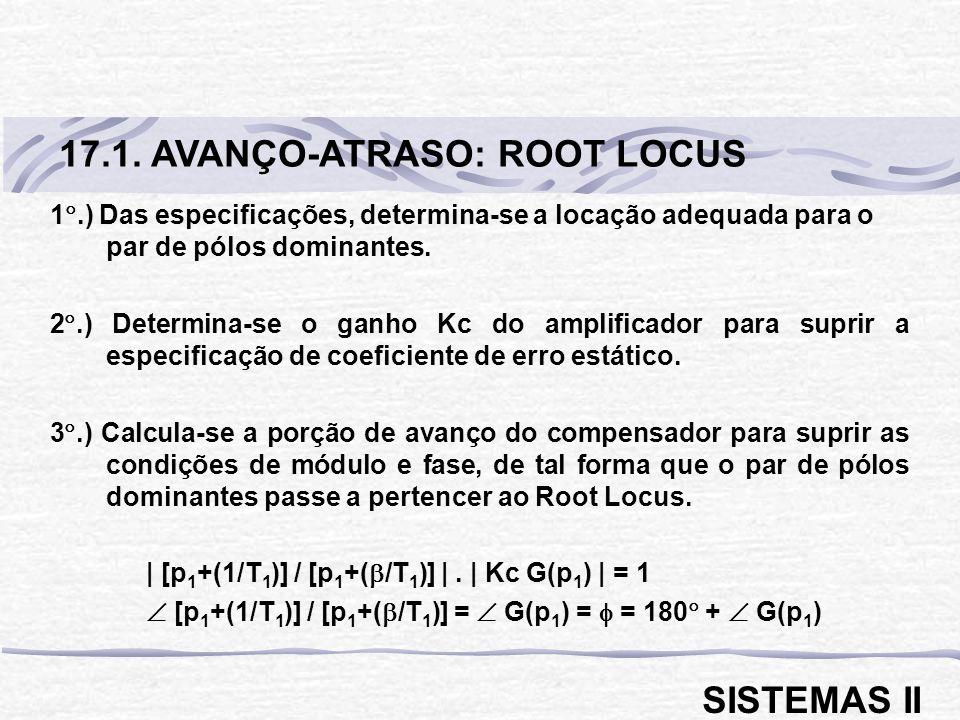 17.1. AVANÇO-ATRASO: ROOT LOCUS