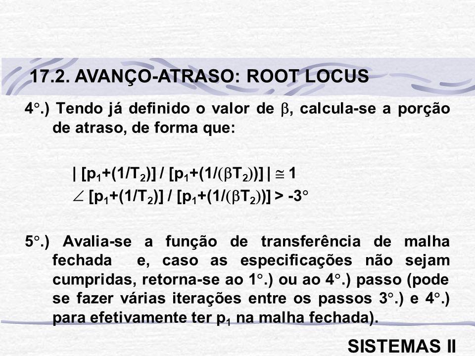 17.2. AVANÇO-ATRASO: ROOT LOCUS