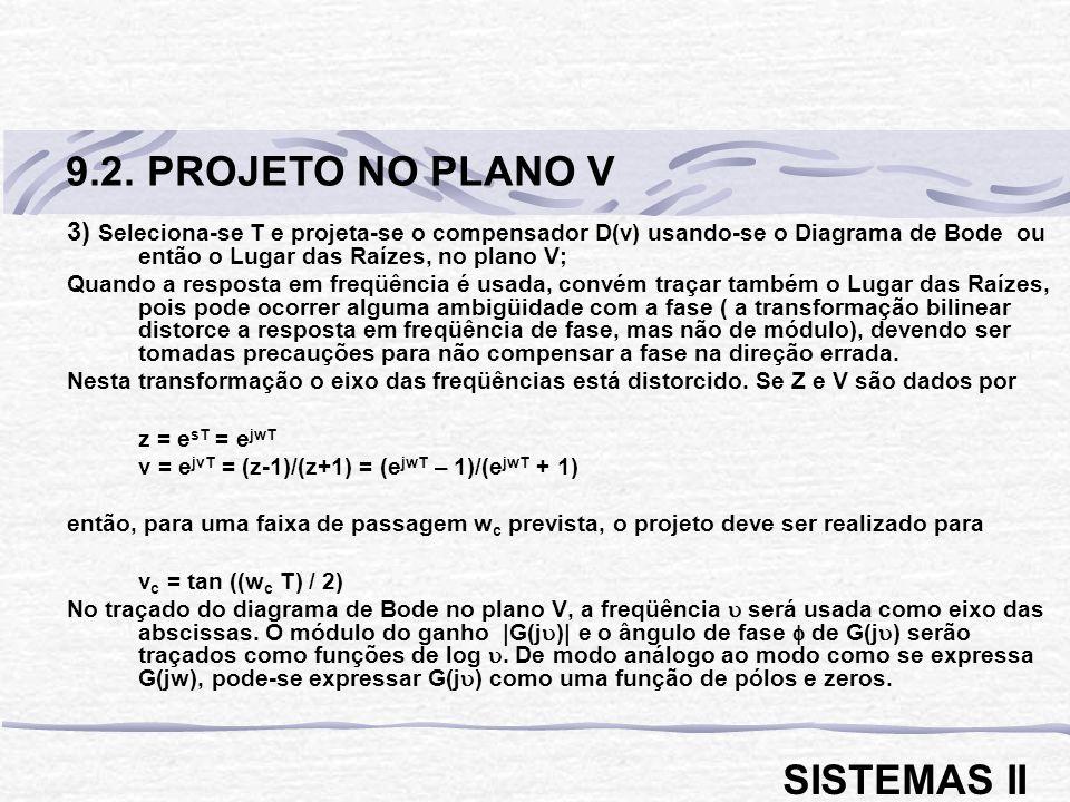 9.2. PROJETO NO PLANO V SISTEMAS II