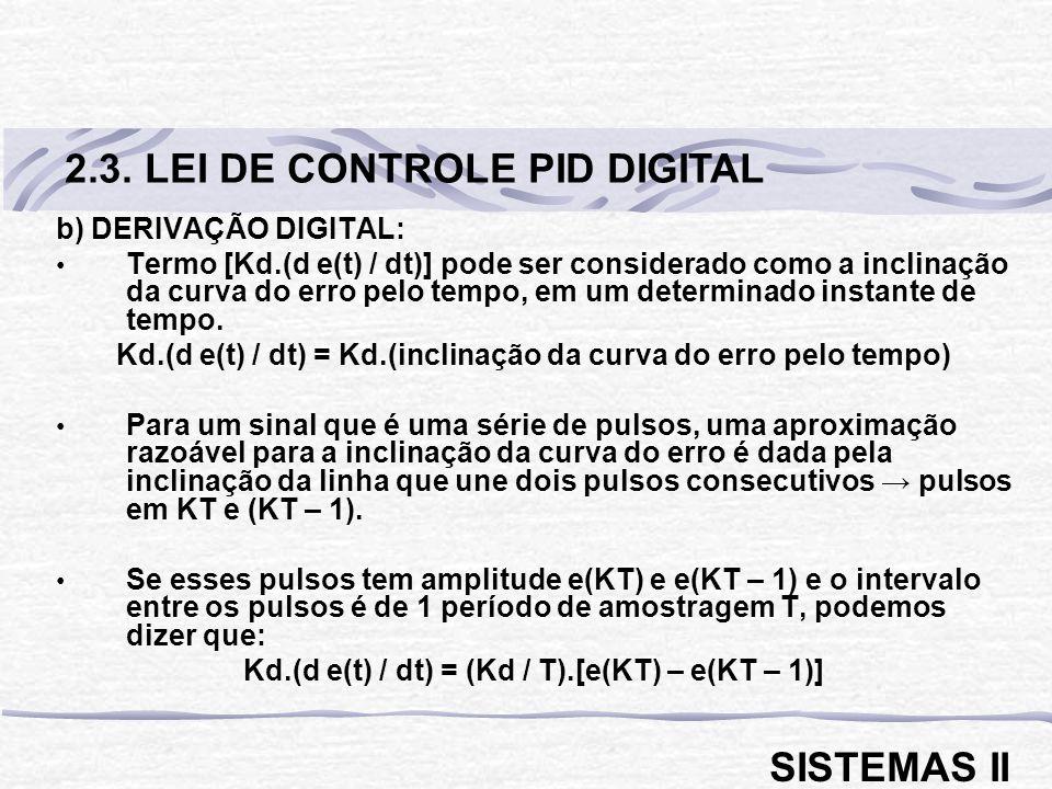 2.3. LEI DE CONTROLE PID DIGITAL