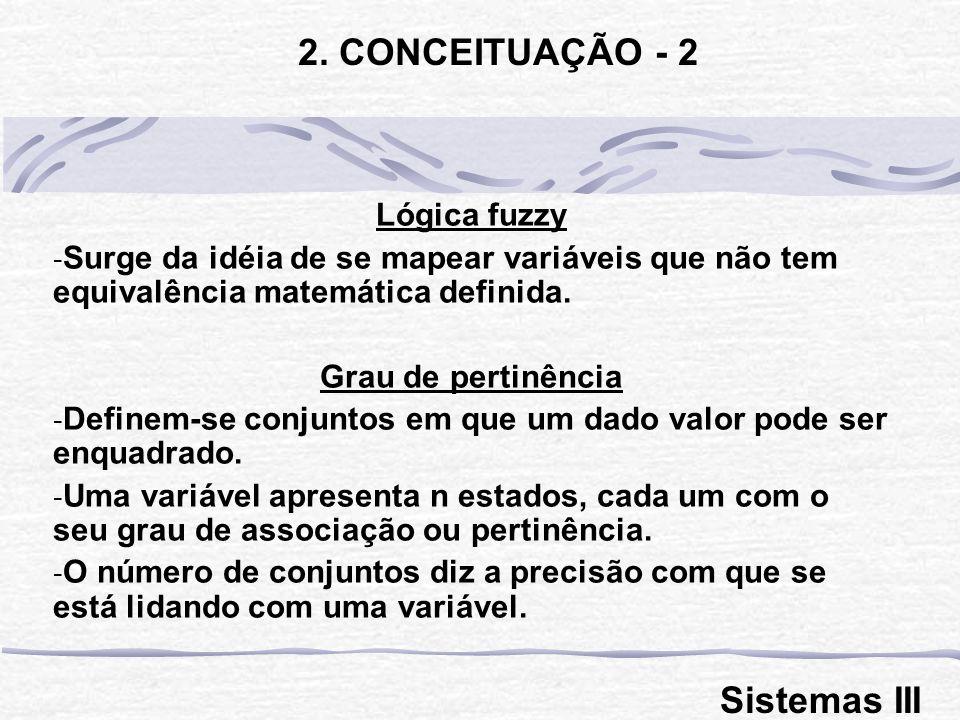 2. CONCEITUAÇÃO - 2 Sistemas III Lógica fuzzy
