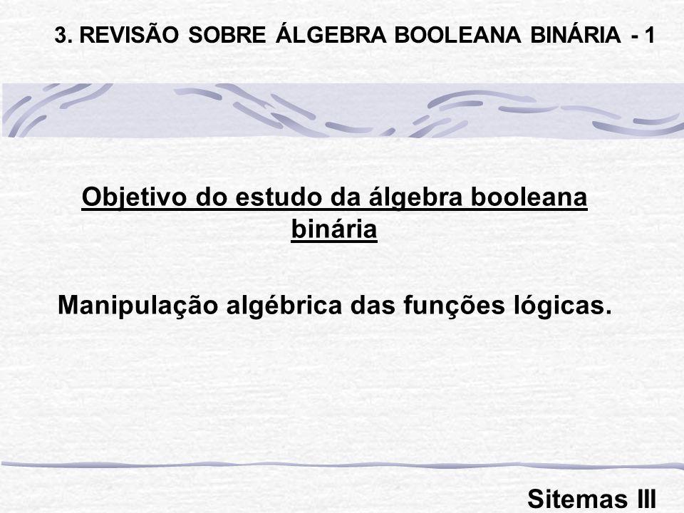 Objetivo do estudo da álgebra booleana binária