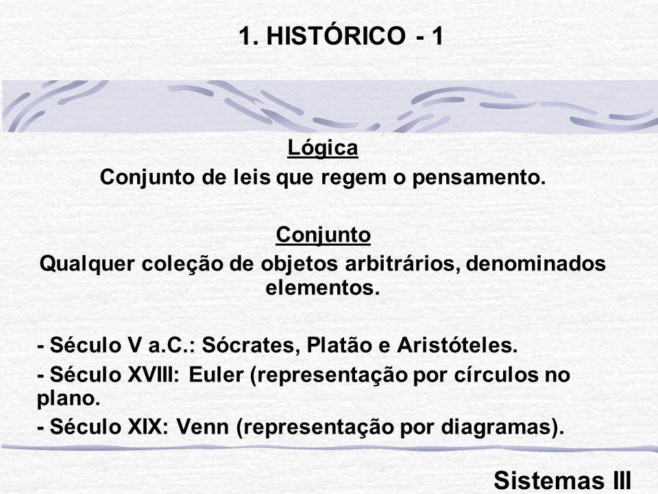 1. HISTÓRICO - 1 Sistemas III Lógica