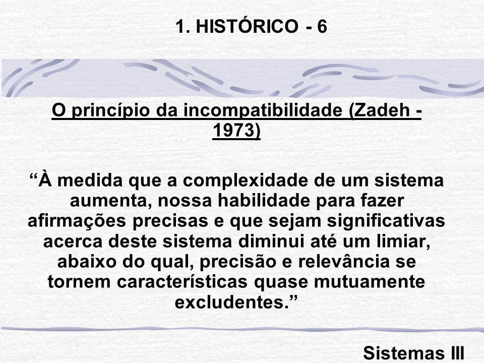 O princípio da incompatibilidade (Zadeh - 1973)