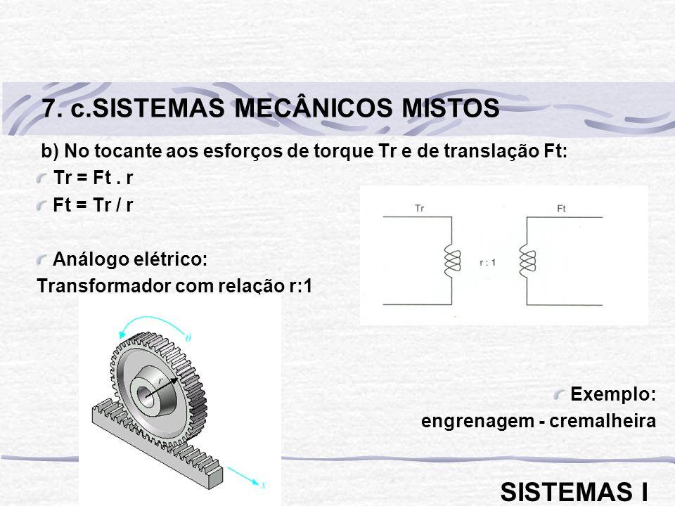 7. c.SISTEMAS MECÂNICOS MISTOS