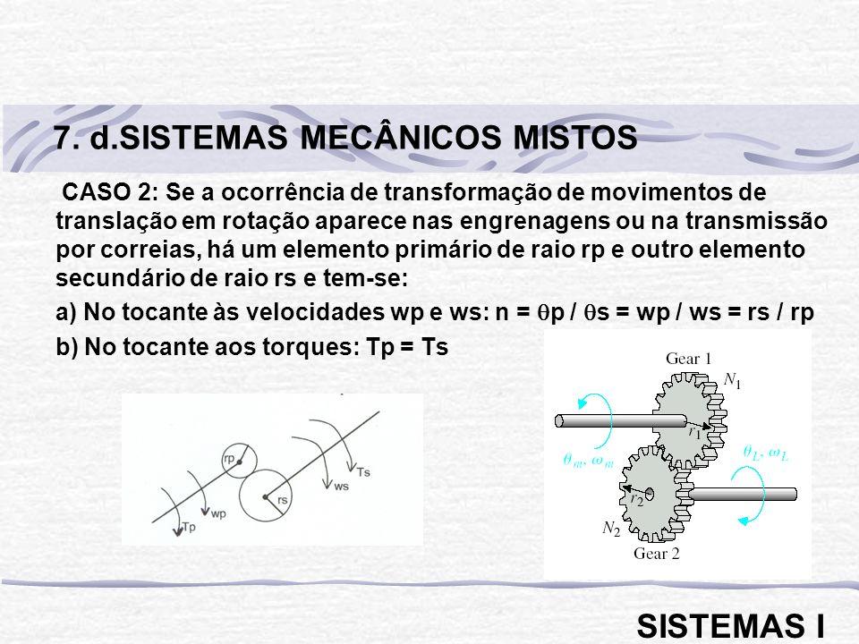 7. d.SISTEMAS MECÂNICOS MISTOS