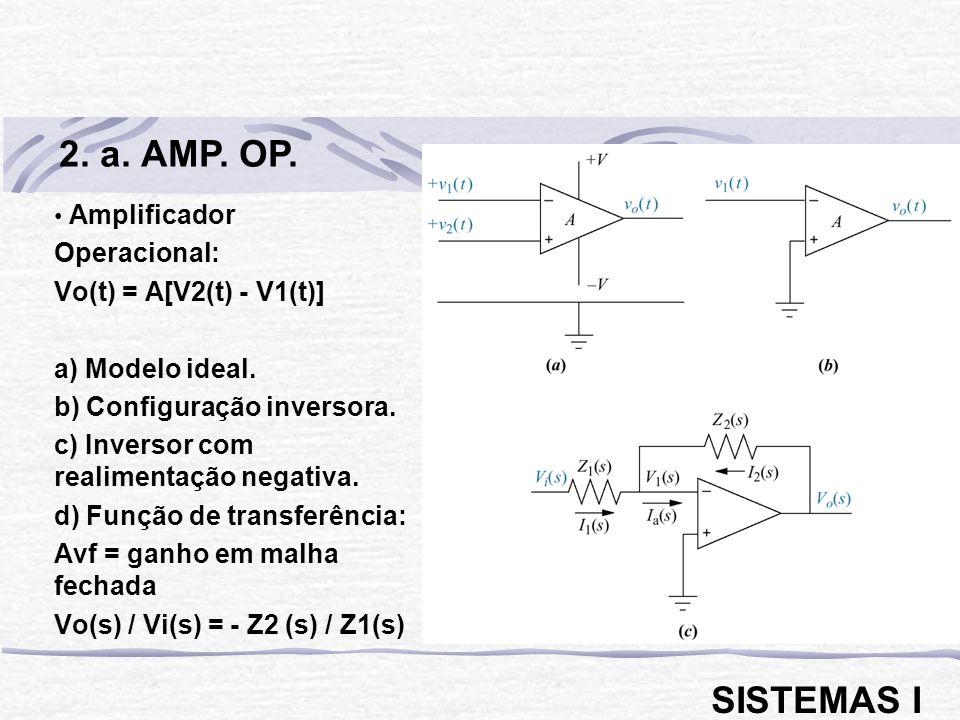 2. a. AMP. OP. SISTEMAS I Amplificador Operacional: