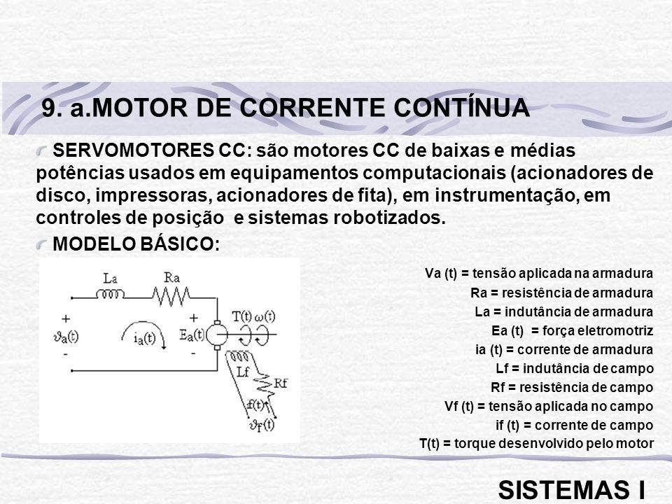 9. a.MOTOR DE CORRENTE CONTÍNUA
