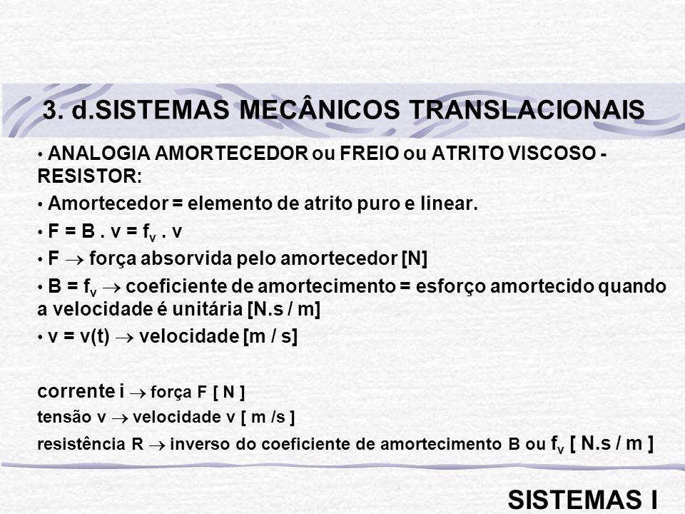 3. d.SISTEMAS MECÂNICOS TRANSLACIONAIS