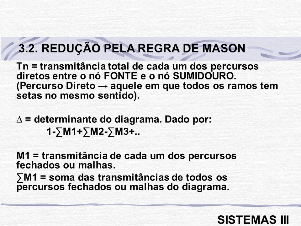 3.2. REDUÇÃO PELA REGRA DE MASON