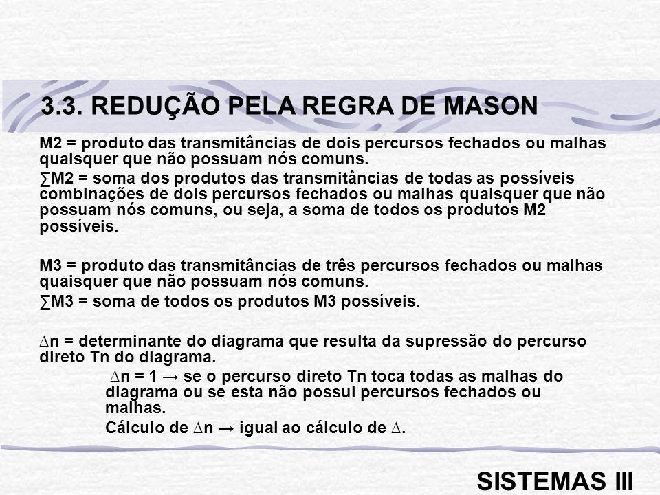 3.3. REDUÇÃO PELA REGRA DE MASON