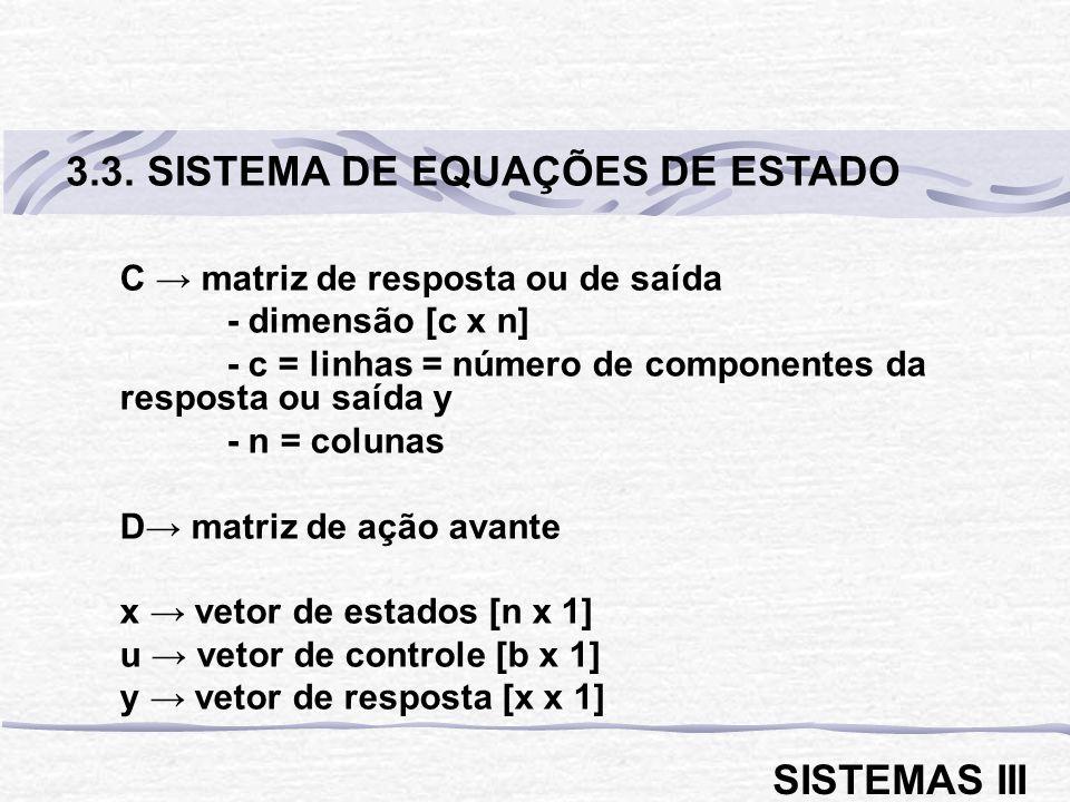 3.3. SISTEMA DE EQUAÇÕES DE ESTADO