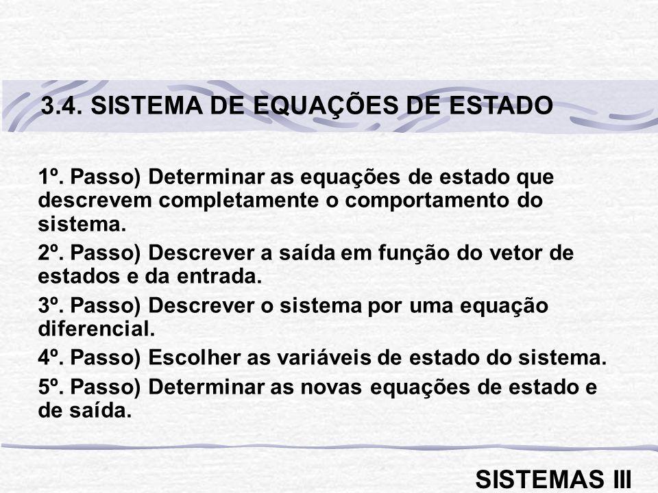 3.4. SISTEMA DE EQUAÇÕES DE ESTADO