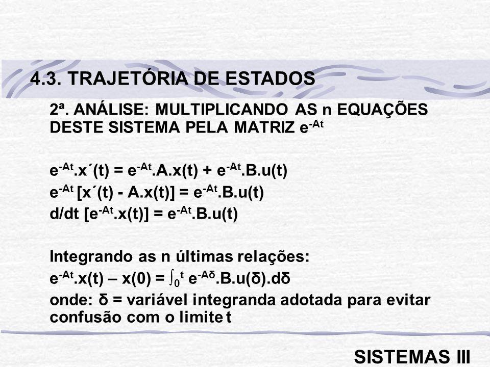 4.3. TRAJETÓRIA DE ESTADOS SISTEMAS III