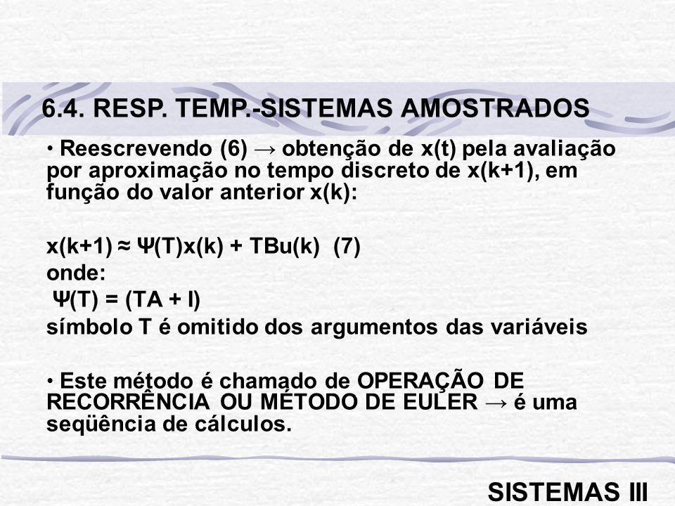 6.4. RESP. TEMP.-SISTEMAS AMOSTRADOS