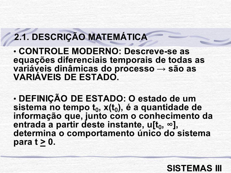 2.1. DESCRIÇÃO MATEMÁTICA