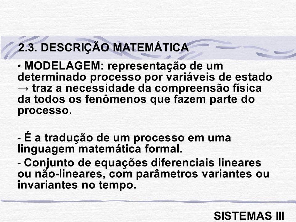 2.3. DESCRIÇÃO MATEMÁTICA