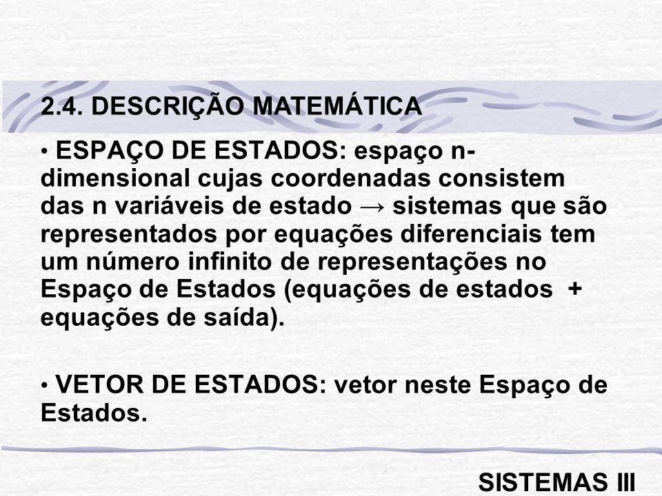 2.4. DESCRIÇÃO MATEMÁTICA