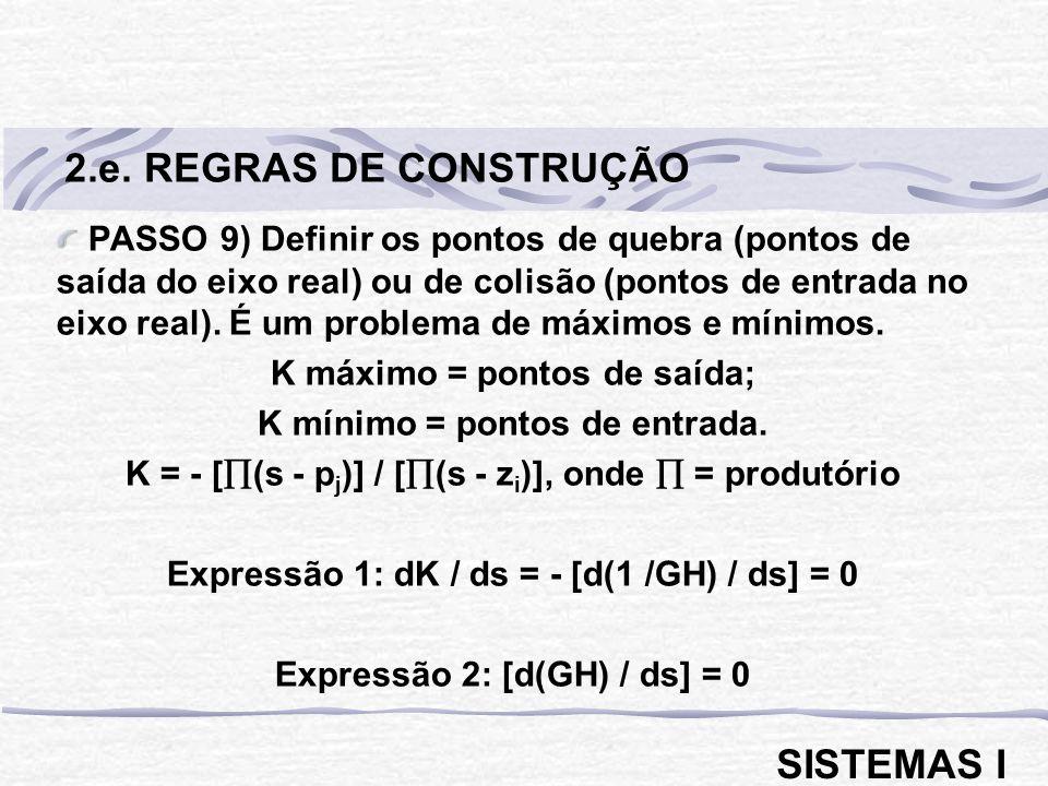 2.e. REGRAS DE CONSTRUÇÃO SISTEMAS I